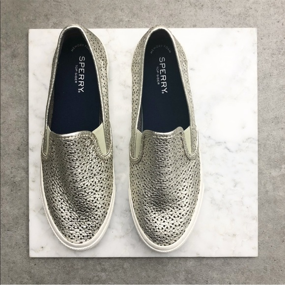 Sperry Shoes | Sperry Silver Metallic